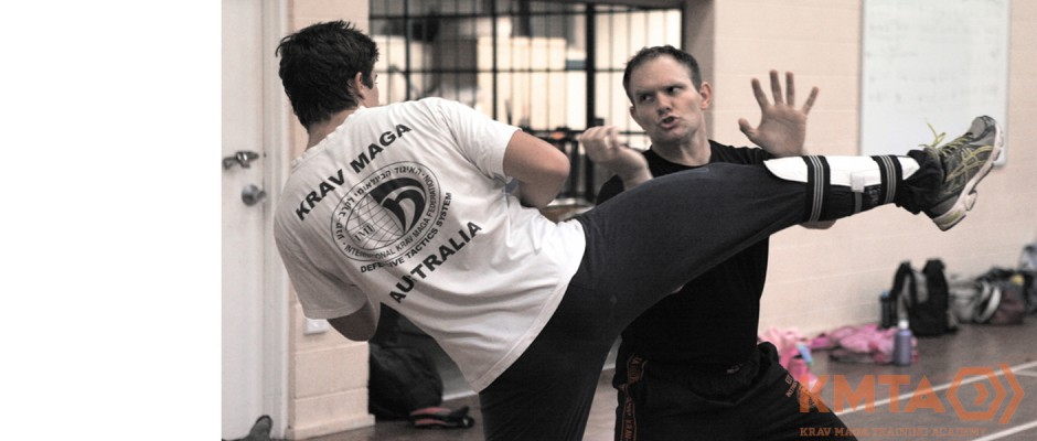 Krav Maga Defending High Roundouse Kick Brisbane